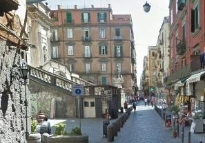 attico panoramico terrazzo a livello Palazzo Filippo di Valois Napoli